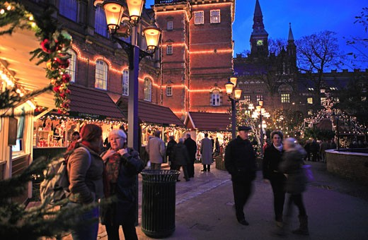Copenhagen, Tivoli Christmas Market : Stock Photo