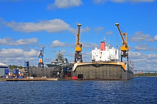 Shipbuilding, Halifax Harbour : Stock Photo