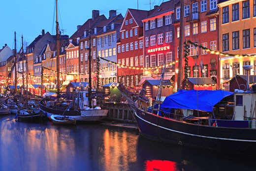 Nyhavn, Christmas Market, Copenhagen : Stock Photo