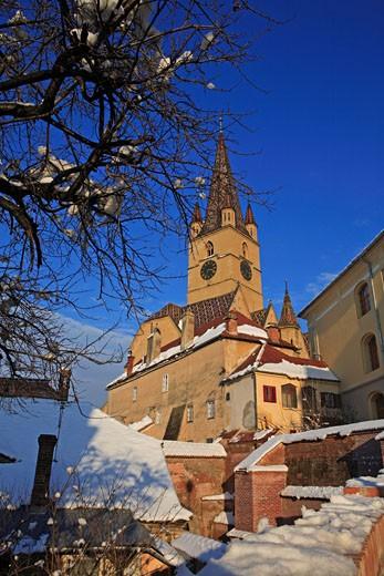 Evangelical Church, Sibiu : Stock Photo
