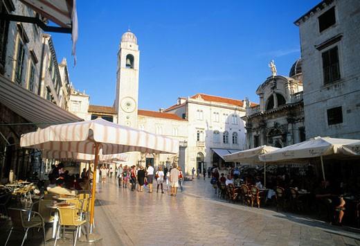 Dubrovnik, Stradun, Daytime View : Stock Photo