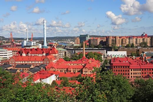 Sweden, Gothenburg, View From Skansen Kronan : Stock Photo