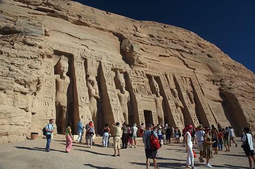 Abu Simbel, Temple of Queen Nefertari : Stock Photo