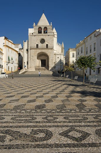 The Aelntejo, Elvas, The Central Praca Da Republica Square With Nossa Senhora Da Assuncao Church : Stock Photo