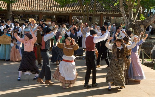 The Algarve, Alte Festival, Folkdancing Troupe From The Beira Litoral District Near Coimbra : Stock Photo
