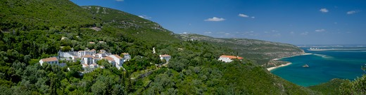 Near Setubal, The Serra Da Arrabida, With The Convento Da Arrabida, Beaches And Troia In Distance : Stock Photo