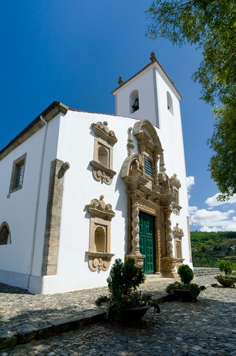 Tras-os-montes, Braganca Igreja Da Santa Maria Do Castelo Church : Stock Photo
