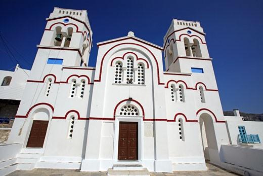 Amorgos, Greek Orthodox Church, Tholaria : Stock Photo