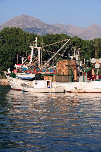 North East Aegean Islands, Samothraki, A Fishing Boat In The Port Of Kamariotissa : Stock Photo