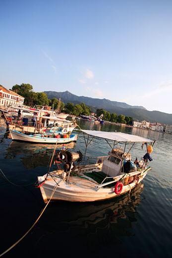 North East Aegean Islands, Thassos, The Old Harbour In Thassos Town Or Limenas : Stock Photo