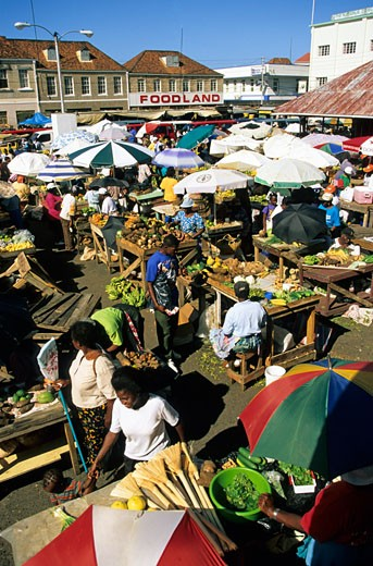 Grenada, Local Food Market : Stock Photo