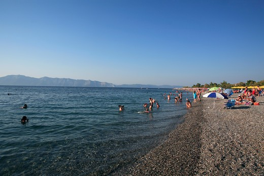 Greece Evia Pefki The Main Beach : Stock Photo