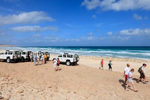 Cape Verde Islands Boa Vista Praia Cabo Santa Maria : Stock Photo