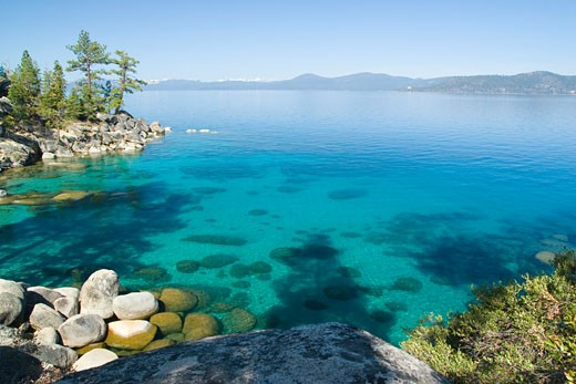 Stock Photo: 1989-4245 Sand Harbor at Lake Tahoe in Nevada