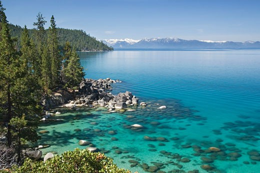 Secret Cove at Lake Tahoe in Nevada : Stock Photo