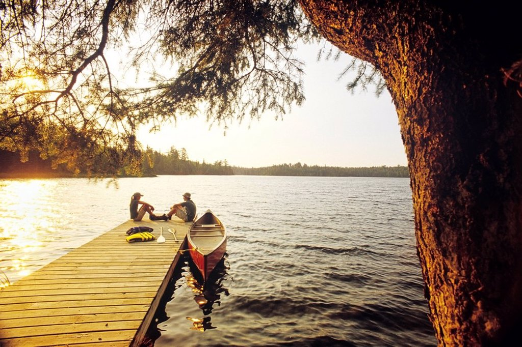 Stock Photo: 1990-10062 Lyons Lake, Whiteshell Provincial Park, Manitoba, Canada