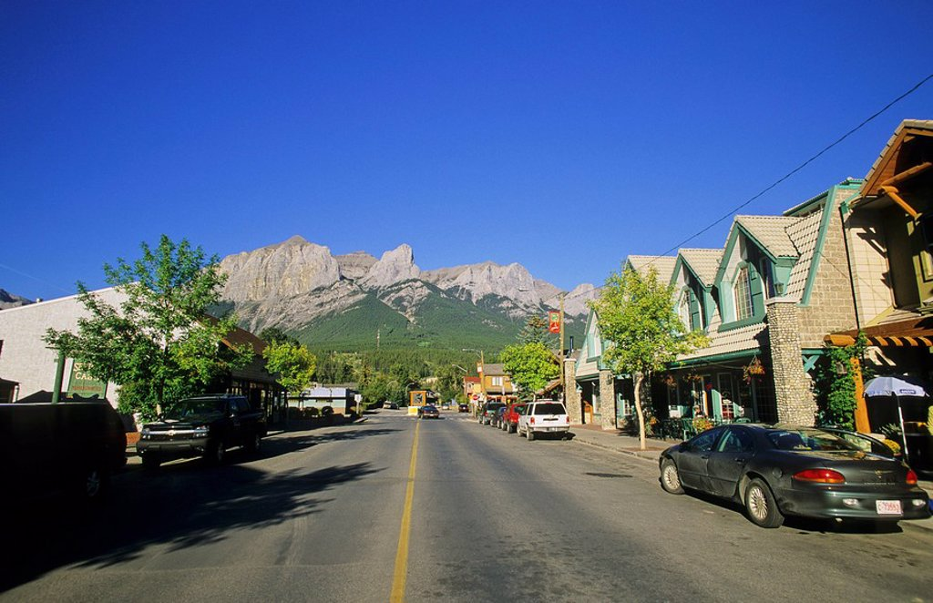 Main Street, Canmore, Alberta, Canada : Stock Photo