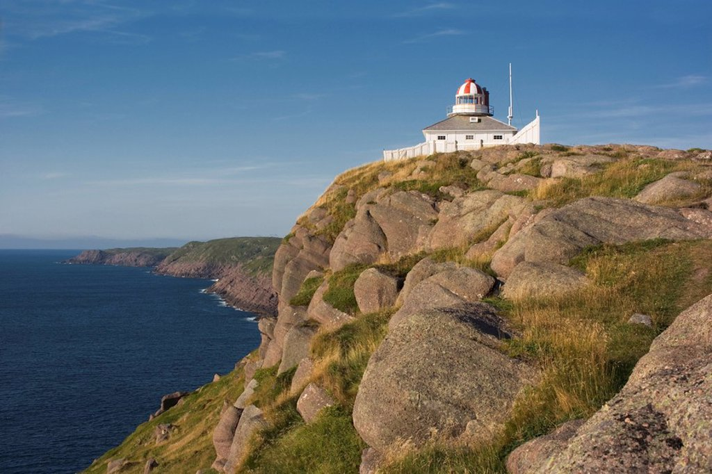 Lighthouse, Cape Spear National, Historic Site, Newfoundland, Canada : Stock Photo