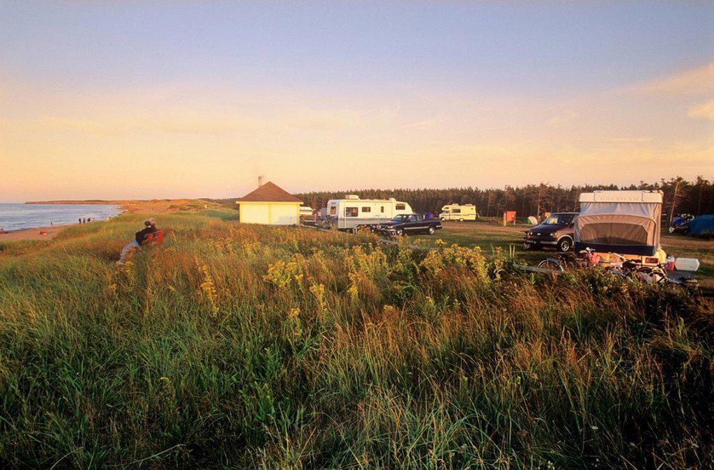 Cavendish Campground, Prince Edward Island National Park, Barrett&MacKay Photo : Stock Photo