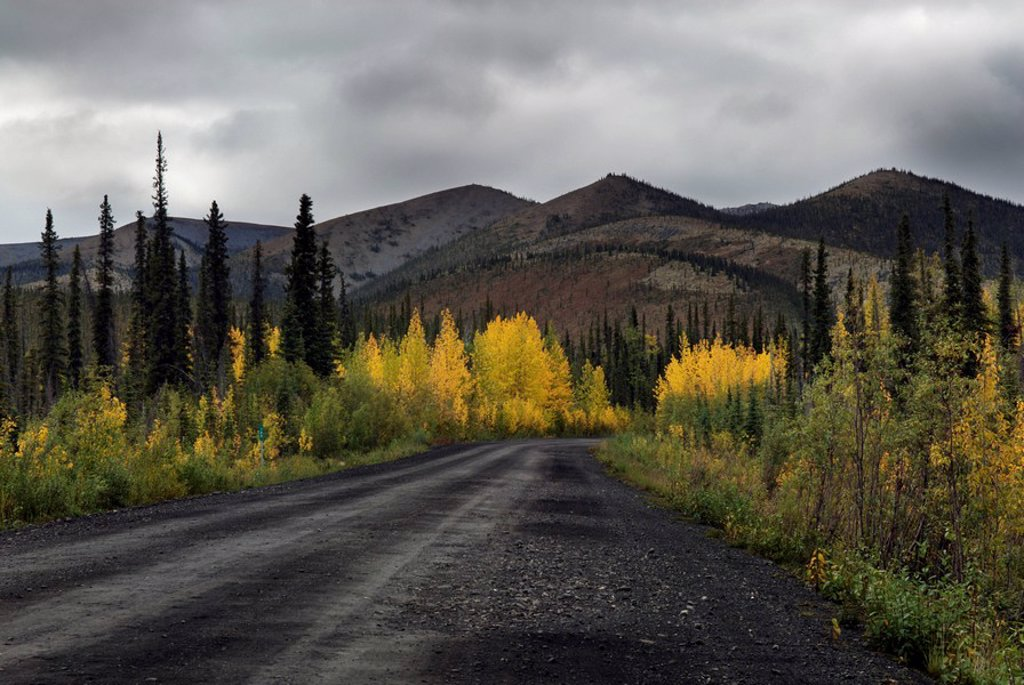 Stock Photo: 1990-16292 Dempster Highway, Blackstone Mountain, Yukon Territory, Canada