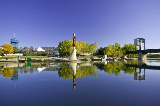 The Forks District in Winnipeg, Manitoba, Canada : Stock Photo