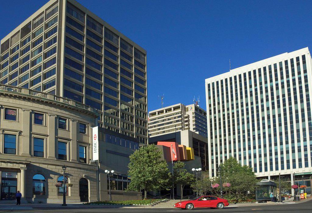 City Centre, Saint John, New Brunswick, Canada : Stock Photo
