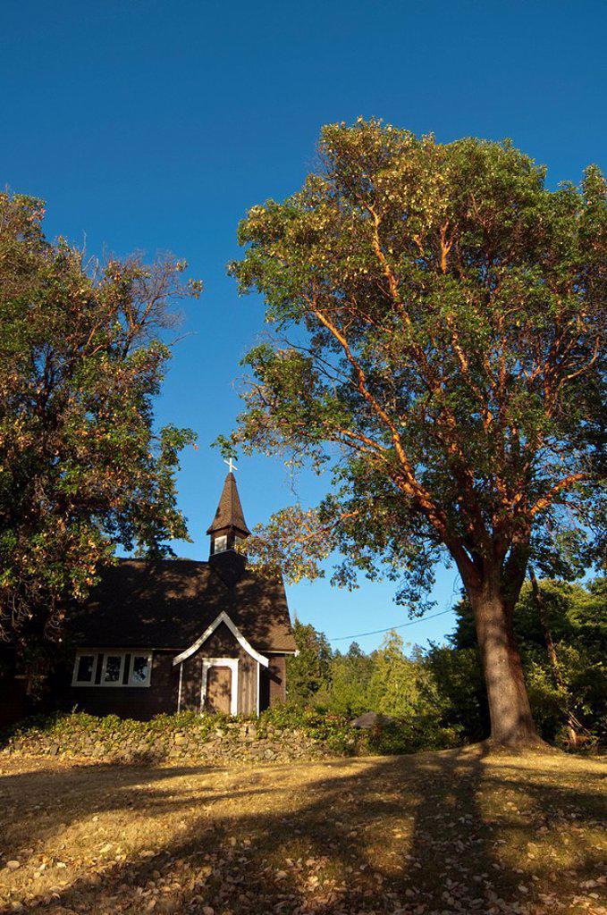 St. Mary Magdalene Church, Mayne Island, B.C, Canada : Stock Photo