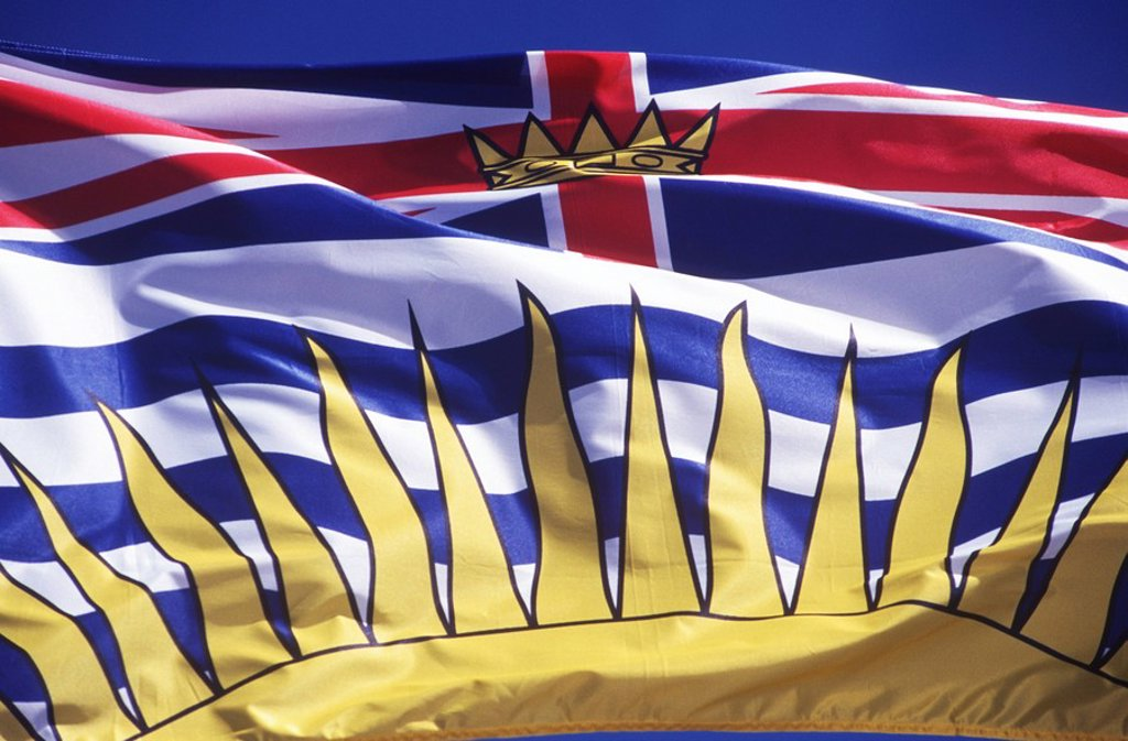 British Columbia´s flag, British Columbia, Canada : Stock Photo