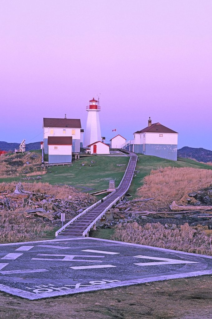 Stock Photo: 1990-26707 Green Island Lighthouse, sits just south of the Alaskan panhandle, Chatham Sound, British Columbia, Canada