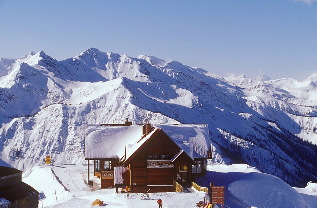 Stock Photo: 1990-26791 Eagles Eye Lodge, Kicking Horse Resort, Golden, British Columbia, Canada