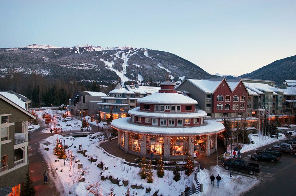 Whistler Creekside at Whistler, British Columbia, Canada : Stock Photo