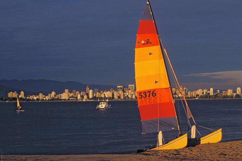 Jericho Beach, Vancouver, British Columbia, Canada : Stock Photo