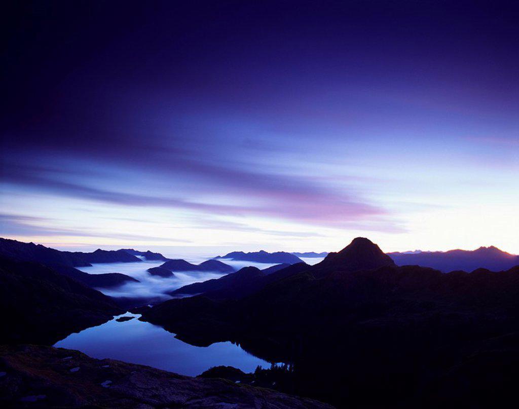 Stock Photo: 1990-28181 Takakia Lake Moresby Island, Haida Gwaii, British Columbia, Canada
