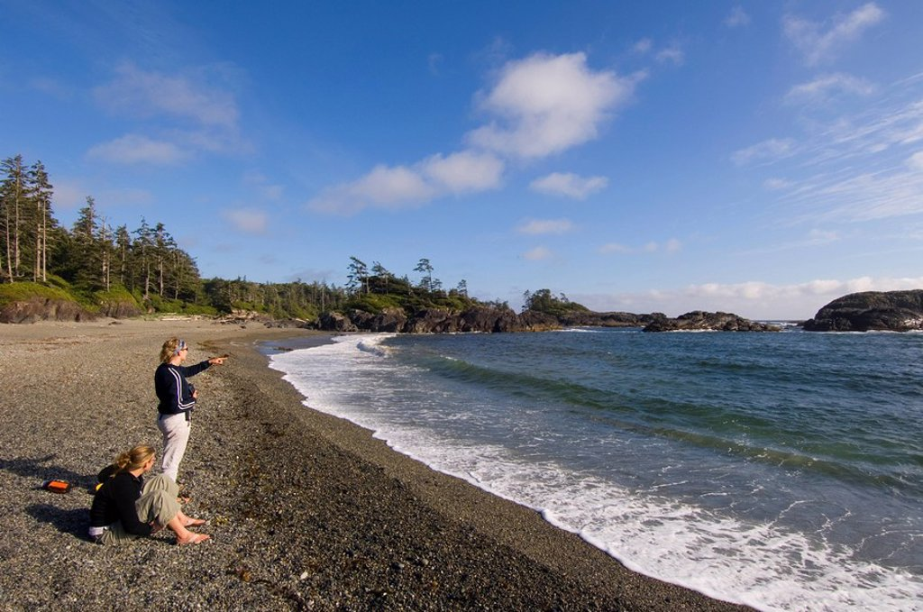 Pacific Rim National Park, South Beach, on trail south of Wickaninnish Beach, Vancouver Island, British Columbia, Canada : Stock Photo