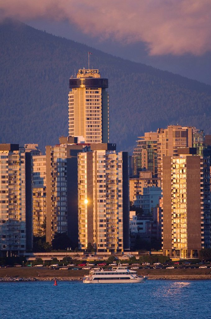 West End from Hastings Mill Park, Vancouver, British Columbia, Canada : Stock Photo