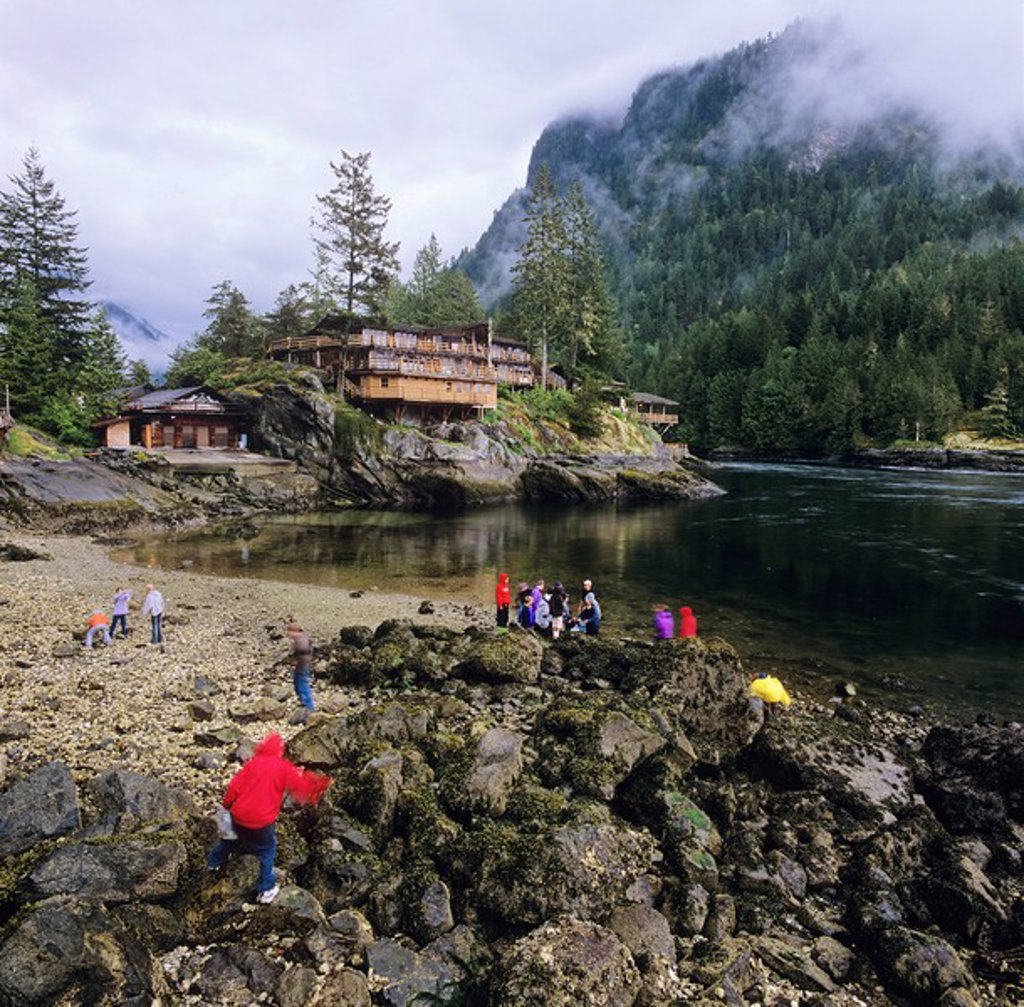 Malibu Lodge, Princess Louisa Inlet, British Columbia, Canada : Stock Photo
