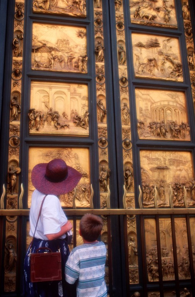 Stock Photo: 1990-29309 Italy, Florence - Bapistry doors ´Gate to Paradise´ by Ghilberti