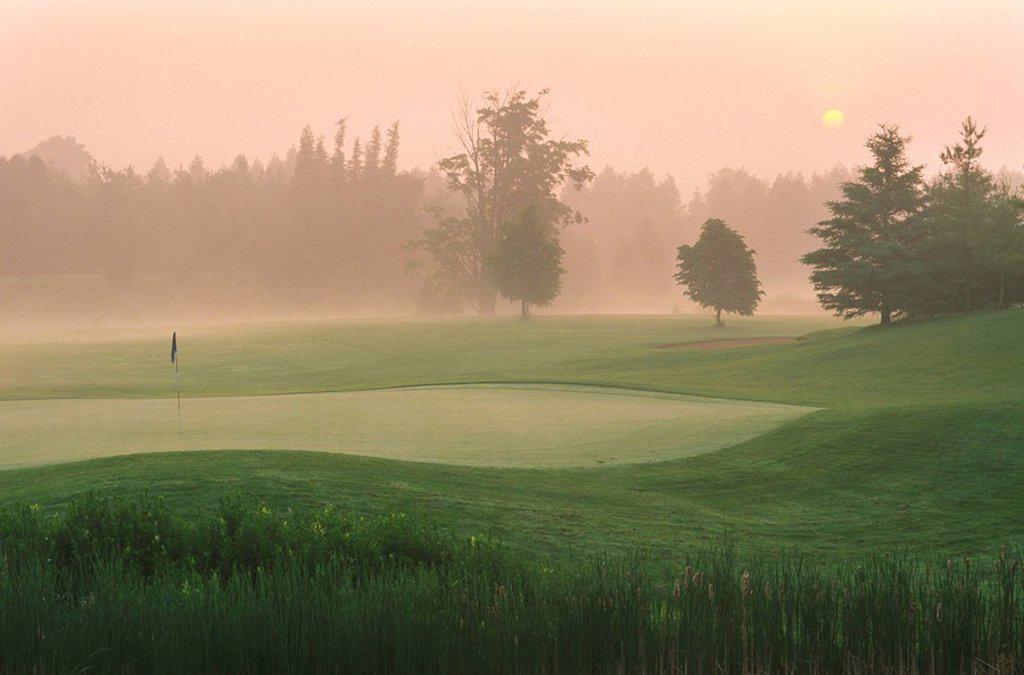 Stock Photo: 1990-2964 Golf Course in Guelph, Ontario, Canada