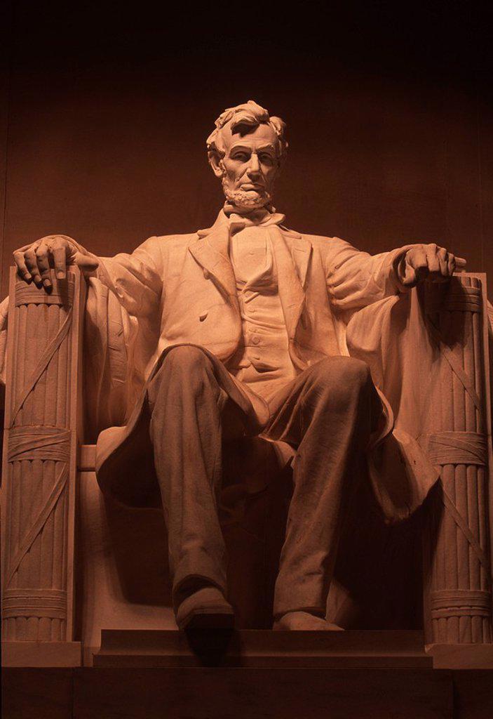 Stock Photo: 1990-29963 USA, Washington, DC, Lincoln Monument