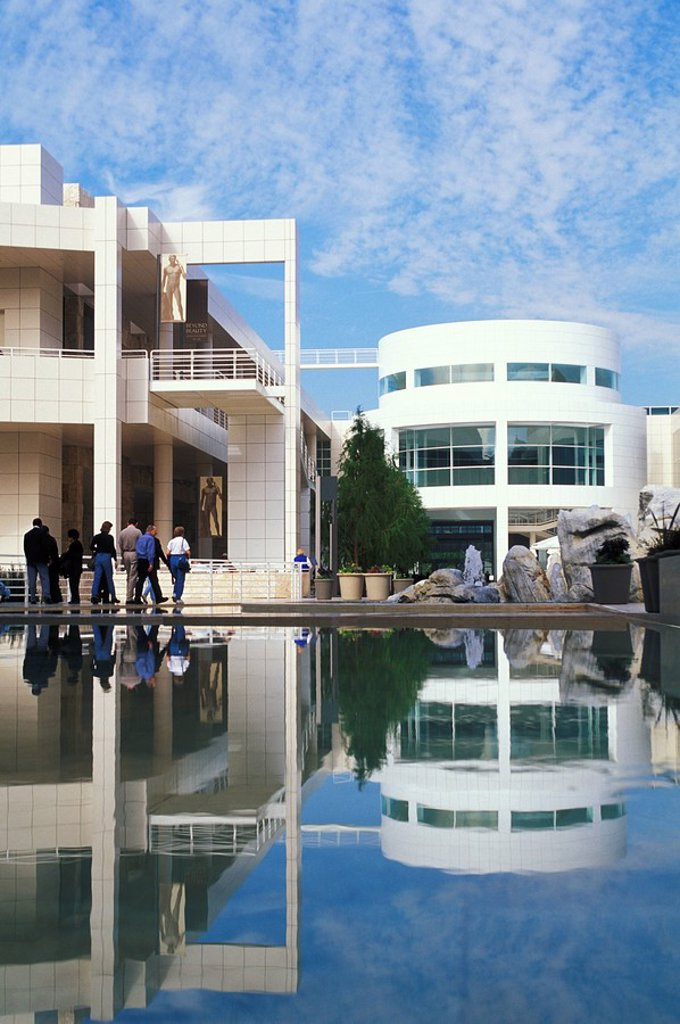 USA, California, Los Angeles, The Getty Center and J  Paul Getty Museum : Stock Photo