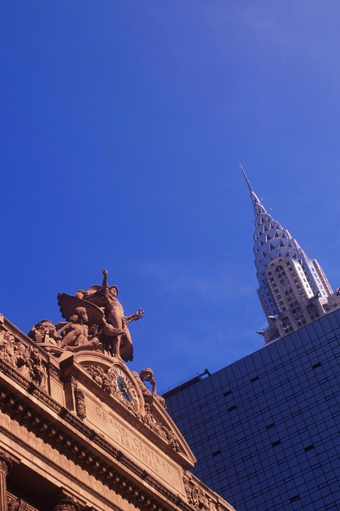 USA, New York City, Chrysler Building and Grand Central Station : Stock Photo