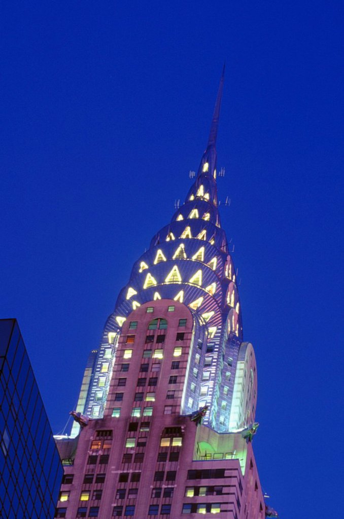 USA, New York City, Chrysler Building at twilight : Stock Photo