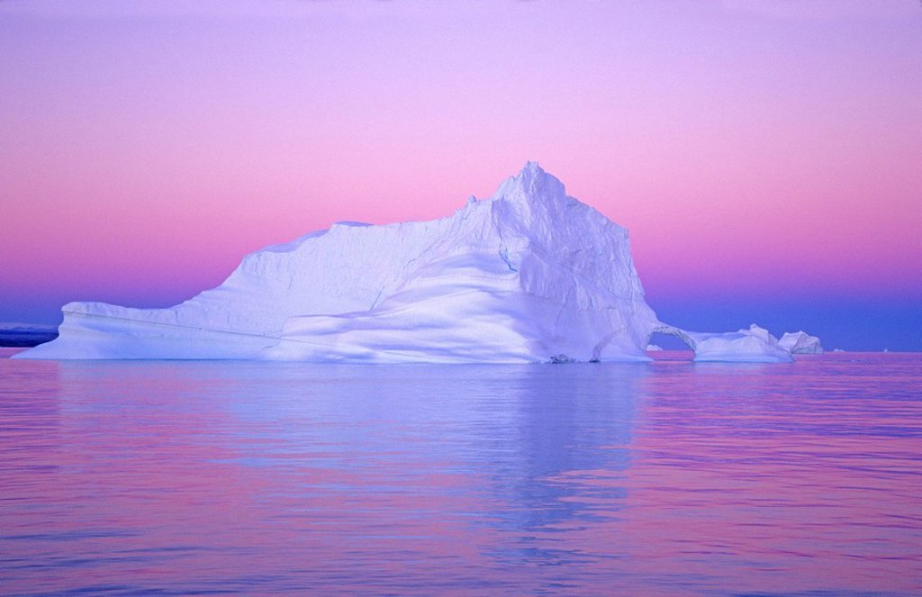 Iceberg, coastal Greenland : Stock Photo