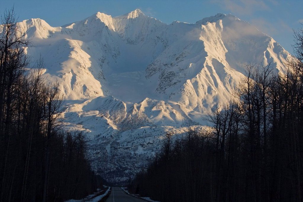 Stock Photo: 1990-31070 Along the road and towards Thompson Pass, Valdez, Alaska, USA
