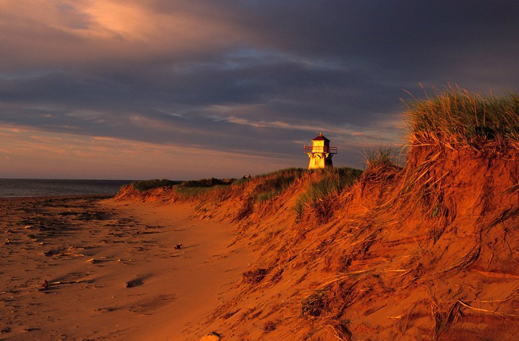Stock Photo: 1990-3113 Covehead Lighthouse, Prince Edward Island National Park, canada