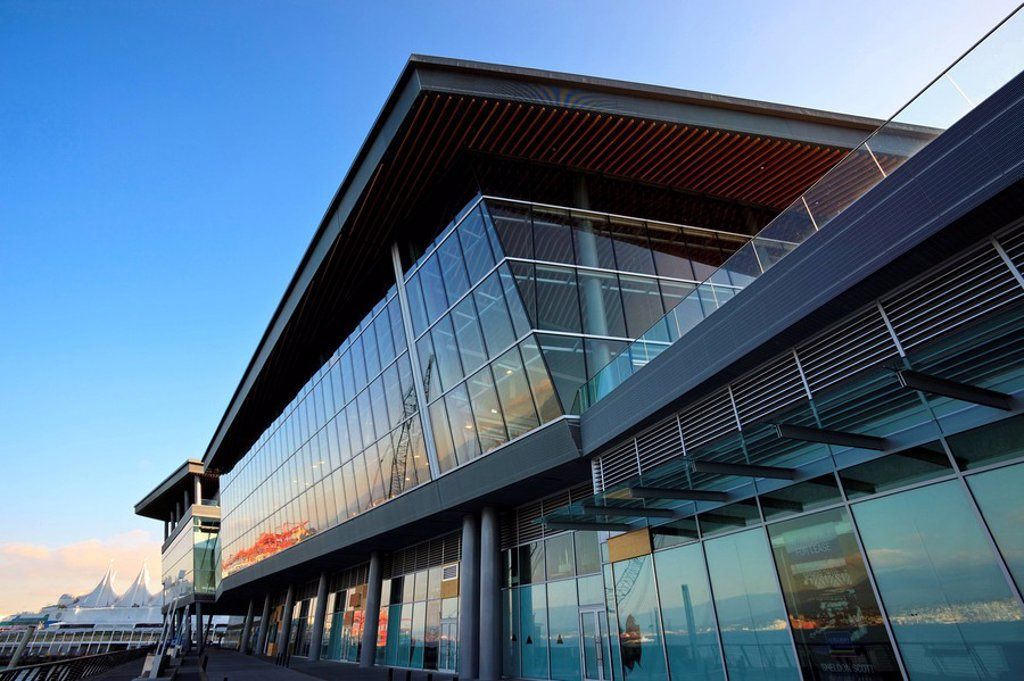 The new Convention Centre in Coal Harbour downtown Vancouver British Columbia Canada. : Stock Photo
