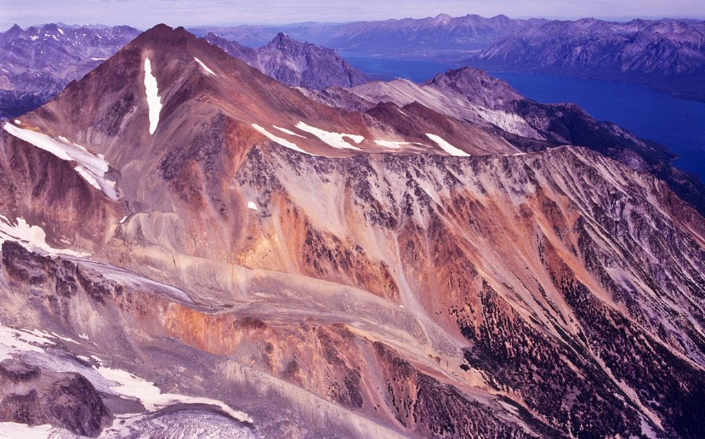 volcanic landscape in the Coast Mountains in British Columbia Canada : Stock Photo