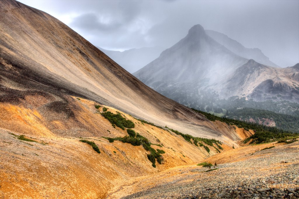 Stock Photo: 1990-33291 Volcanic landscape in the Ilgachuz Mountains in British Columbia Canada