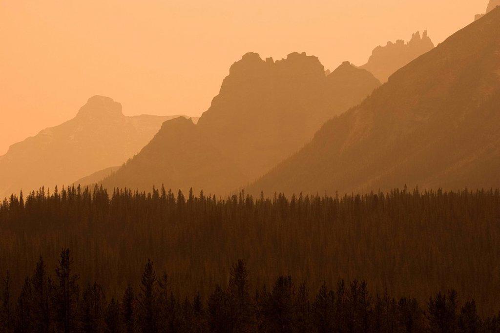 Rocky Mountains near Revelstoke, british columbia, canada : Stock Photo