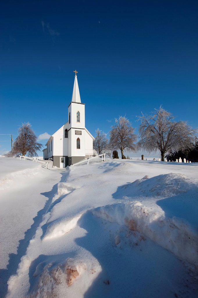 Stock Photo: 1990-36540 Church, Irishtown, Prince Edward Island, Canada